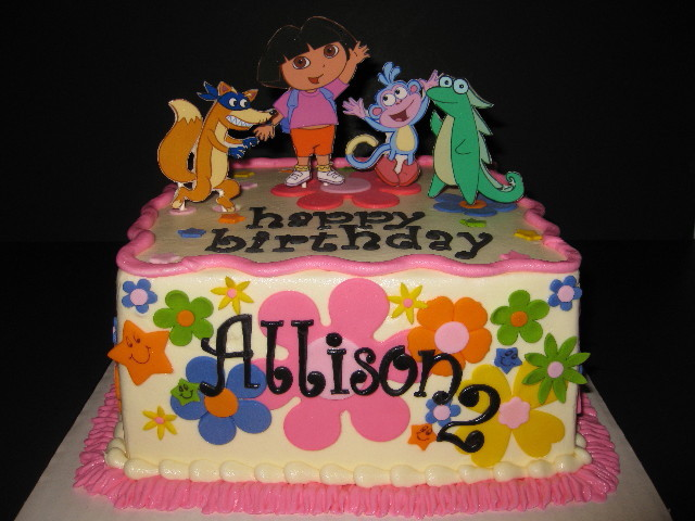 Allison's Dora and Friends Birthday Cake