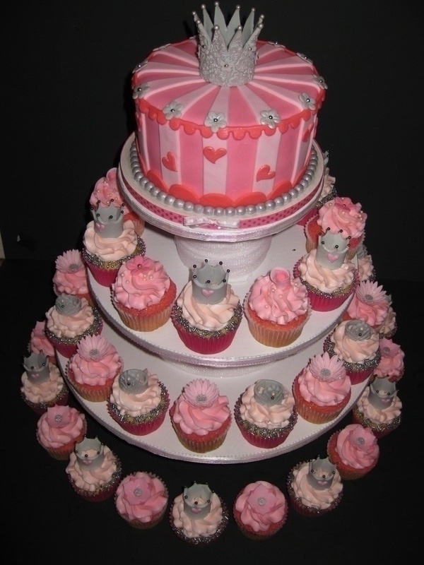 princess bridal shower cake cupcakes