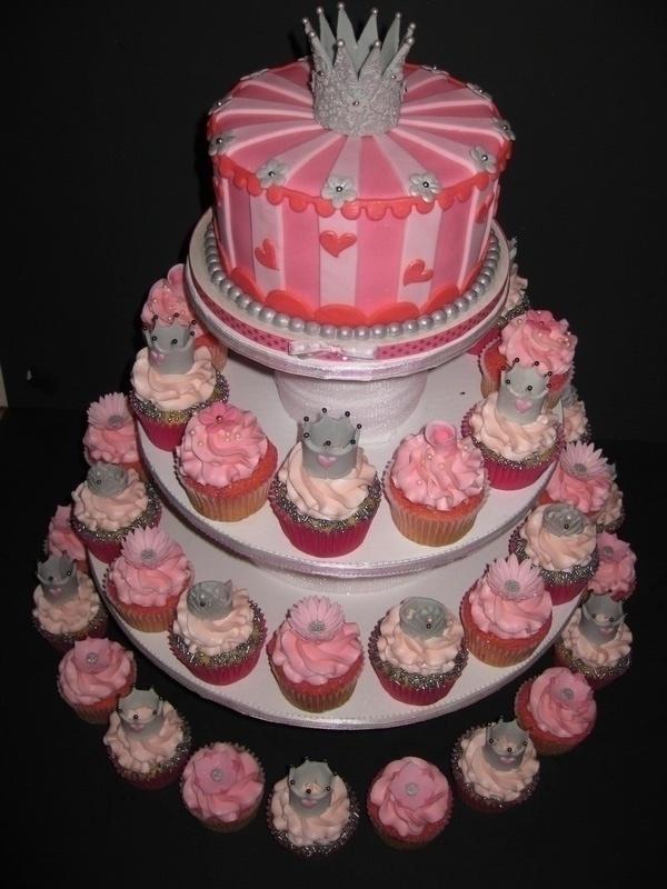 Princess Bridal Shower Cake & Cupcakes
