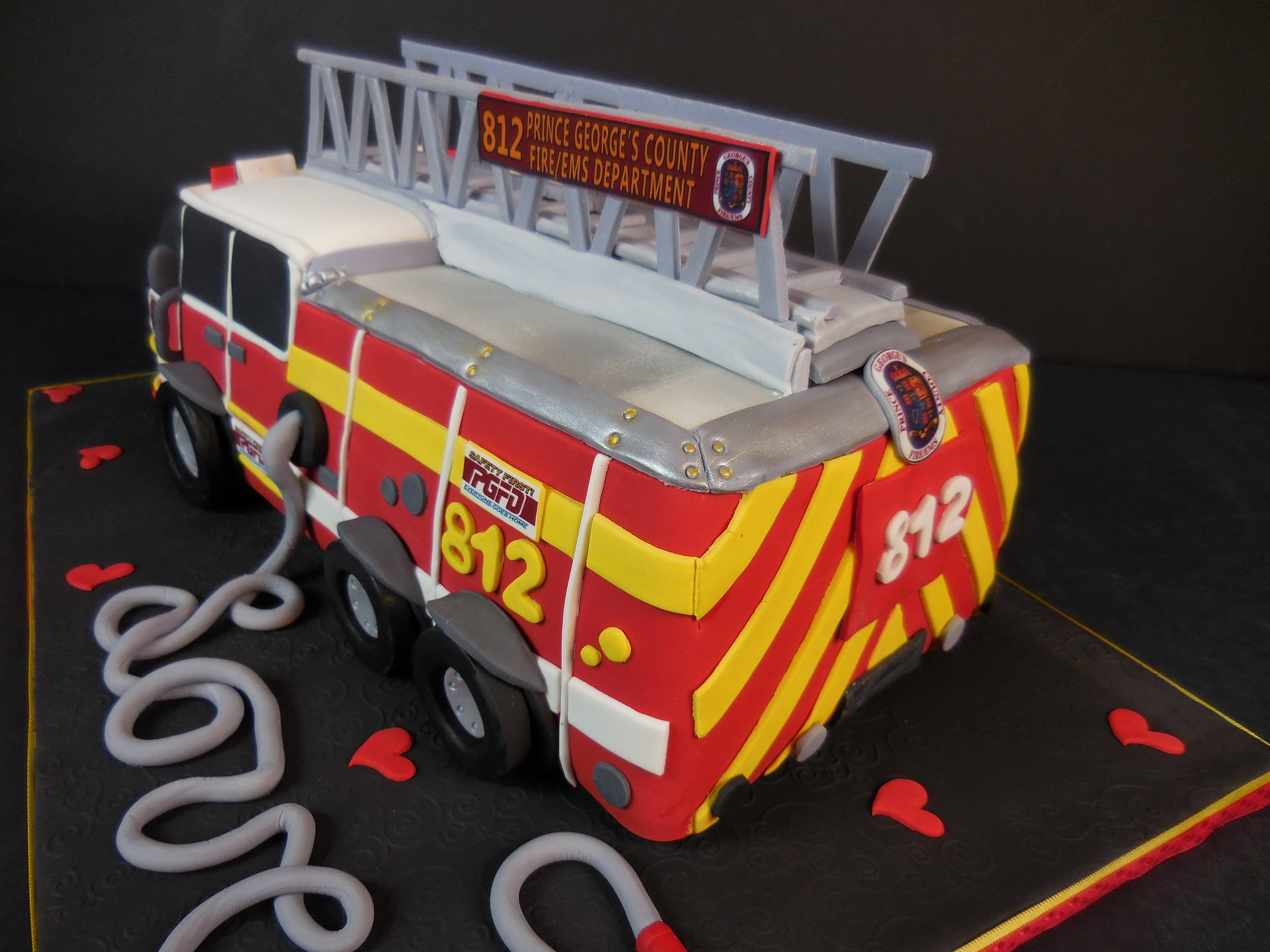 Grooms Firetruck Cake