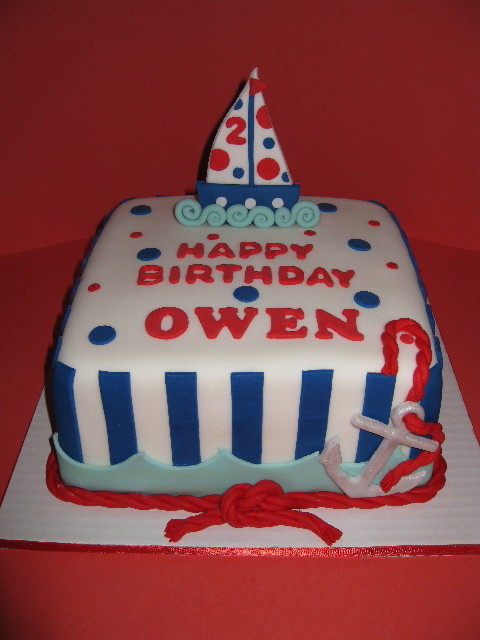Owens Nautical Birthday Cake