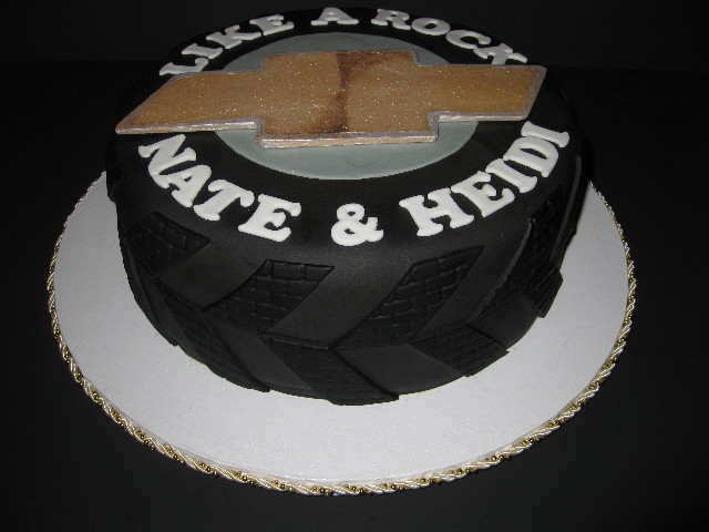 Nate's Chevy Truck Tire Grooms Cake