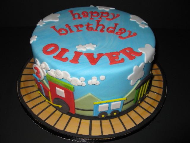 Oliver S Choo Choo Birthday Cake