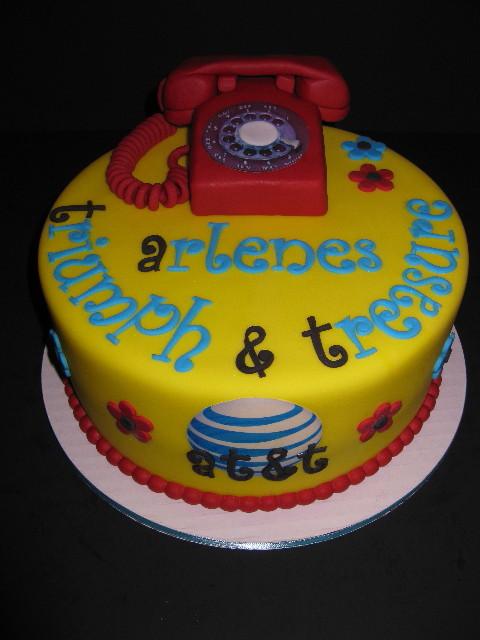 Arlene's at&t Retirement Cake