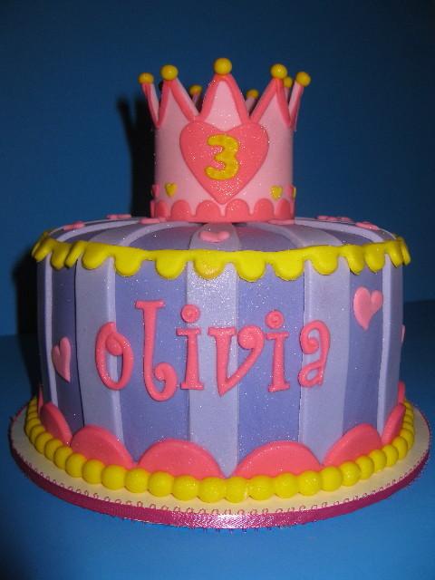 Olivia's Princess Birthday Cake