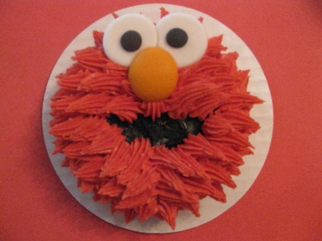 Colton's Elmo Smash Cake