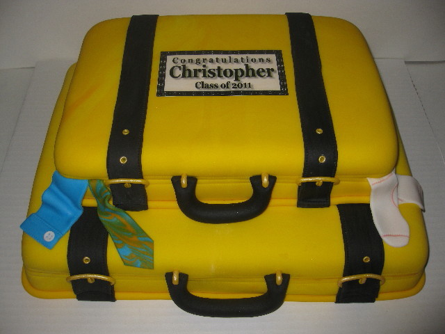 Christopher's Graduation Luggage Cake