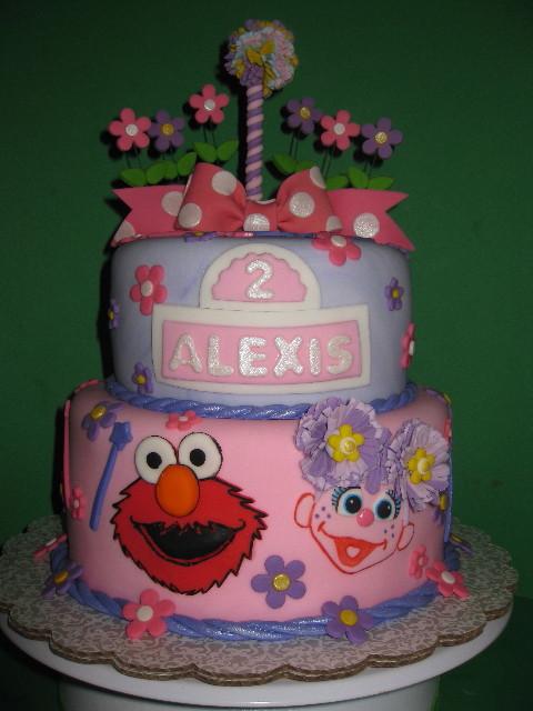 Alexis' Girly Sesame Street Cake