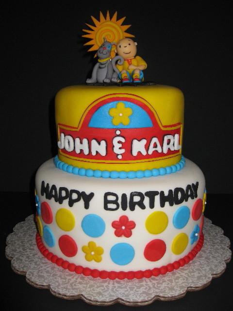John & Karl's Caillou Birthday Cake