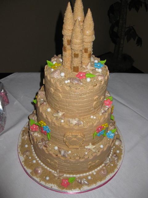 Heidi's Disney Sandcastle Bridal Shower Cake