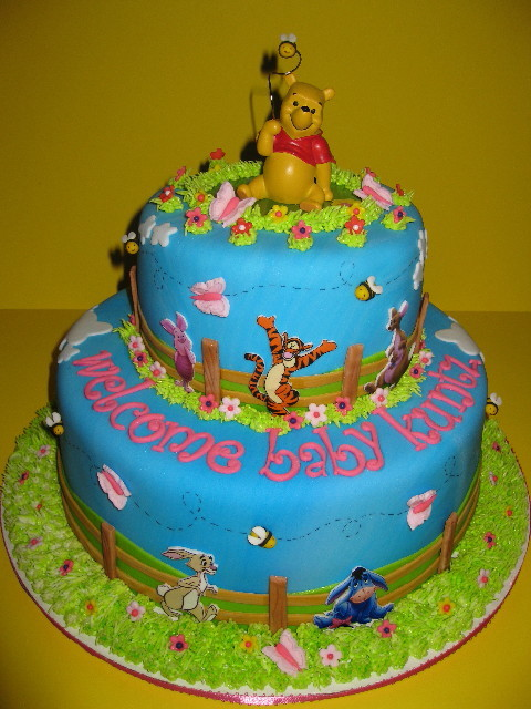 The Pooh Baby Shower Cake