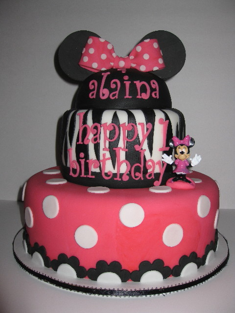 Alaina's Minnie Mouse Birthday Cake