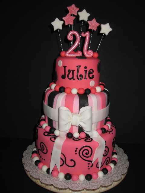 Julie's 21st Birthday Cake