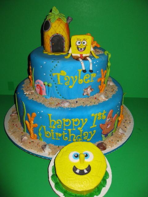 Tayler's Sponge Bob 1st Birthday