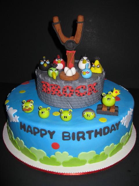 Brock's Angry Birds Cake