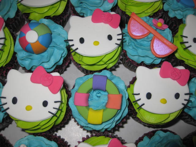 Alainas Hello Kitty Pool Party