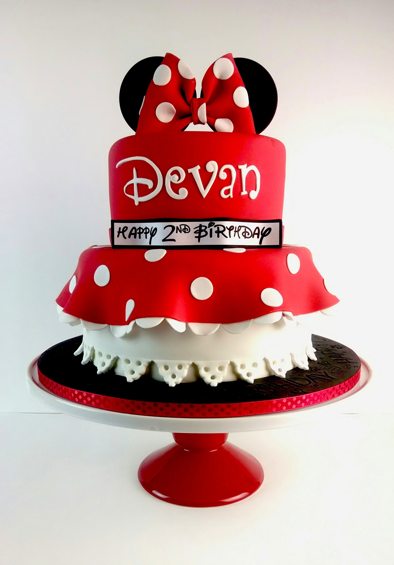 Devan's Minnie Mouse Heads and Tails Birthday