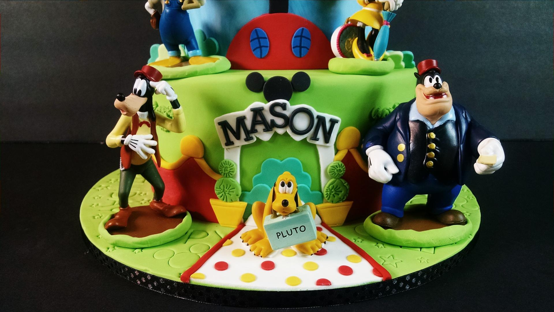 Close up of Mason's Mickey Cake
