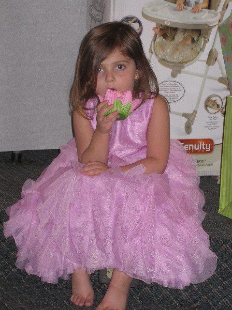 Kaya Enjoying Her Cupcake