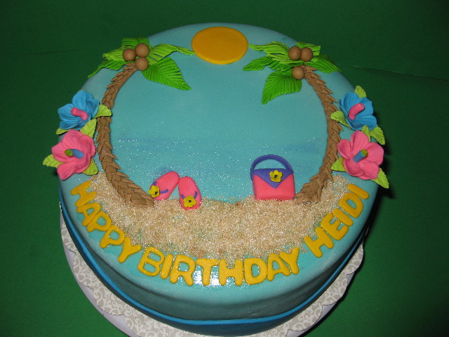 Heidi S Tropical Birthday Cake