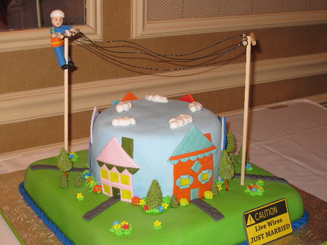 Lineman Groom's Cake