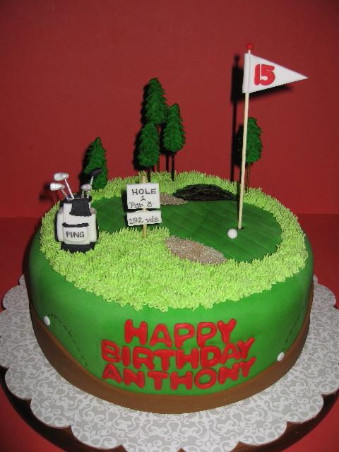 Fondant Golf Cake Design : Anthony s 15th Birthday Golf Style