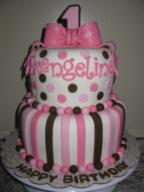Evangelina's First Birthday Cake