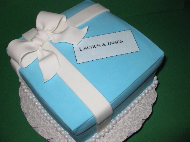 Tiffany Box Wedding Shower Cake
