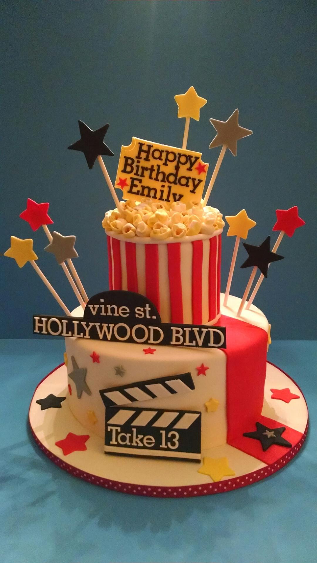 Pleasant Emilys Movie Themed Cake Funny Birthday Cards Online Alyptdamsfinfo