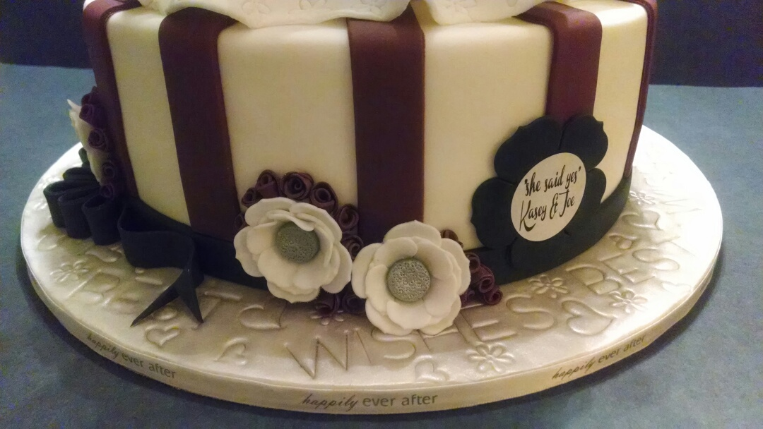 Bridal Dress Shower Cake (Close-up)