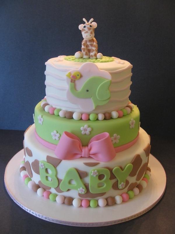 Baby shower cakes giraffe baby shower cake ideas for Baby shower decoration cake