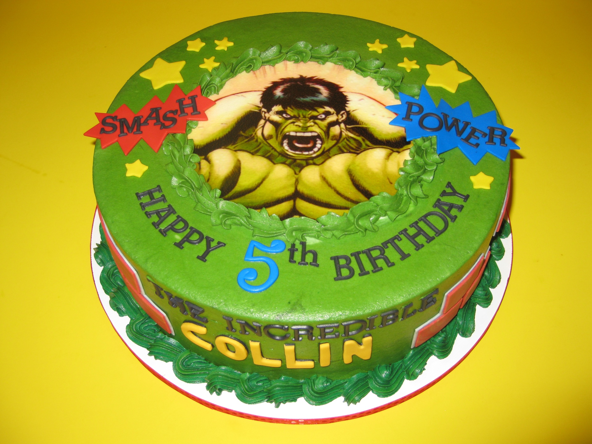 Collin's Incredible Hulk Cake