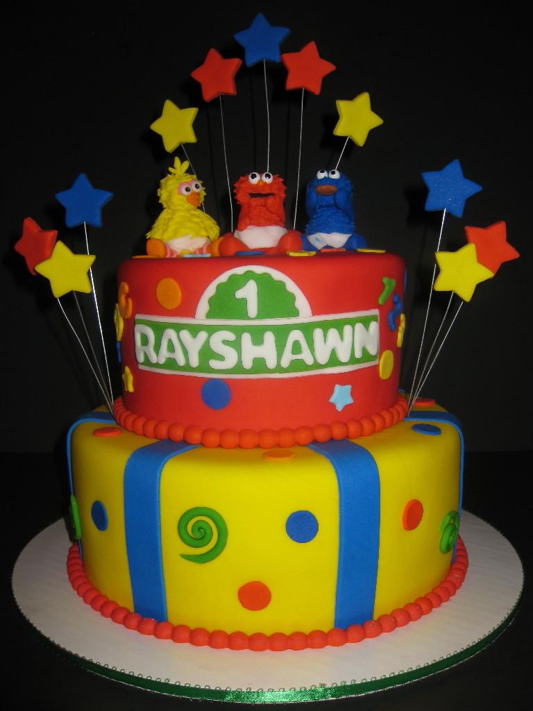 Rayshawn's Baby Sesame Street Cake