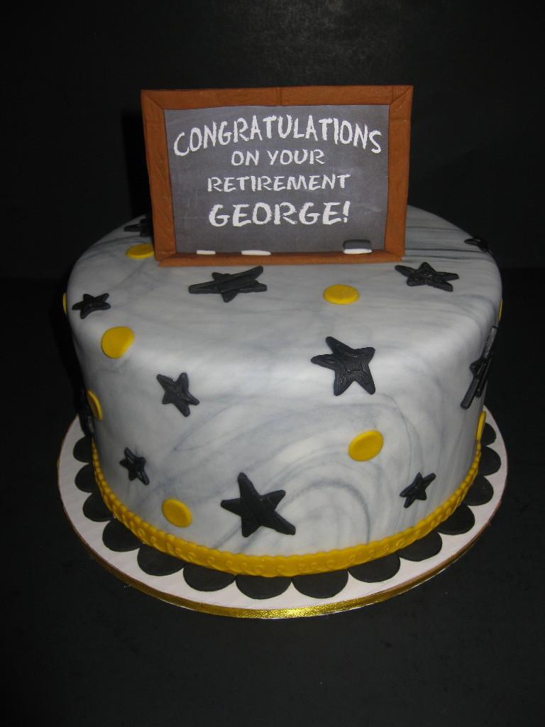 George's Retirement Cake