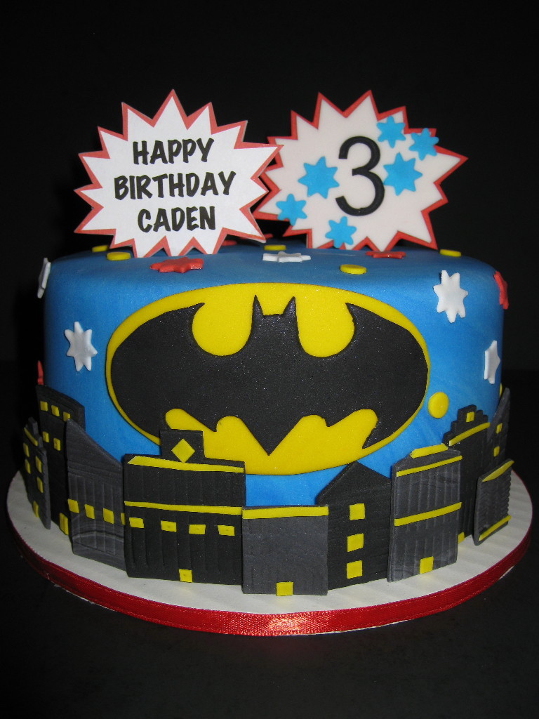 Cadens Batman Birthday Cake