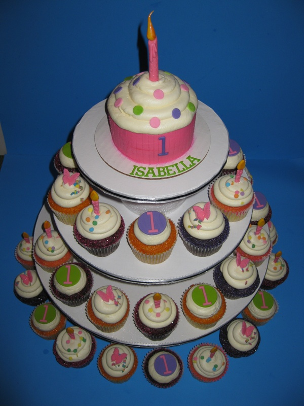 Isabellas 1st Birthday Cupcakes