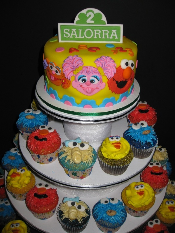 Salorra's Sesame Street Birthday Tower