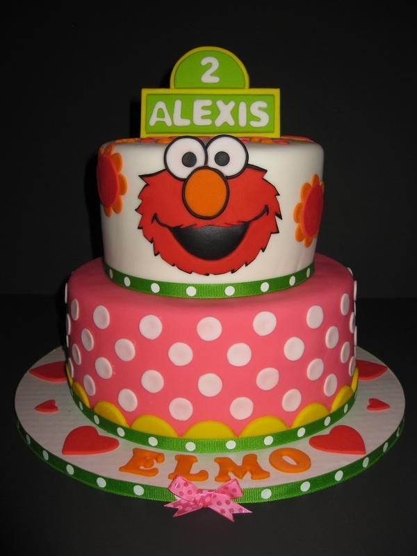 Lexis Elmo 2nd Birthday Cake