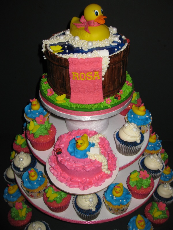 Rosa's Rubber Ducky Cake & Cupcakes