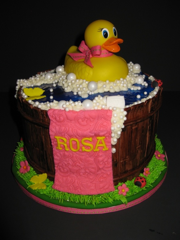 Rosa's Rubber Ducky 1st Birthday Cake