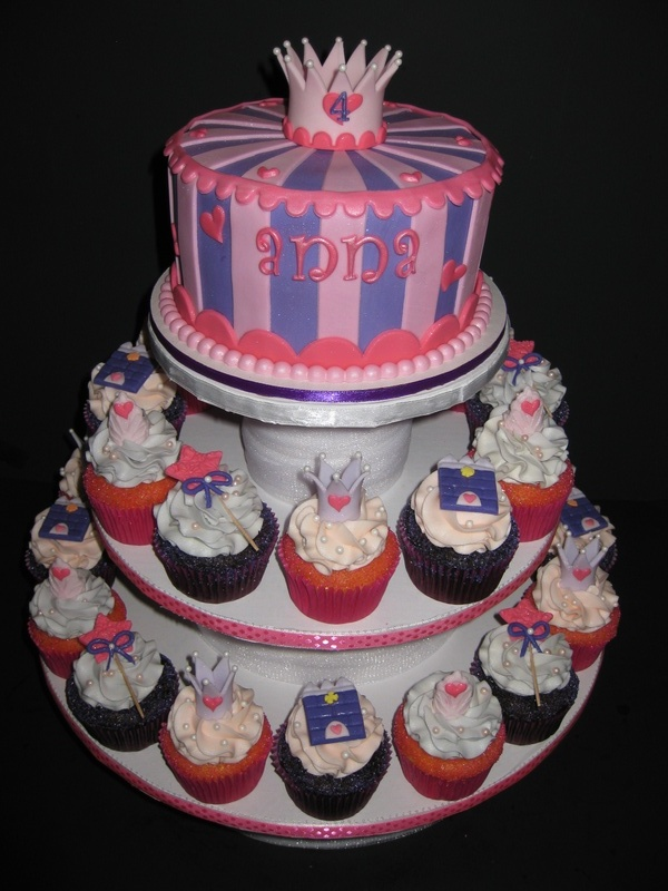 Anna's Princess Birthday Cake & Cupcakes