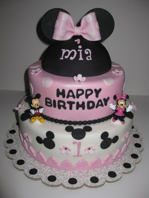 Mia's Minnie Mouse 1st Birthday Cake