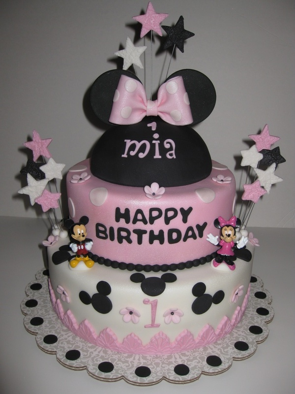 Incredible Mias Minnie Mouse 1St Birthday Cake Funny Birthday Cards Online Unhofree Goldxyz