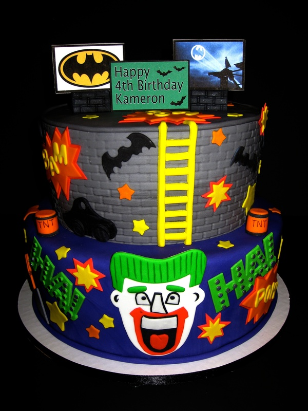 Batman/Joker Birthday Cake