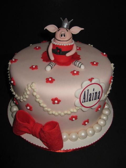 Alaina's Olivia 1st Birthday Cake