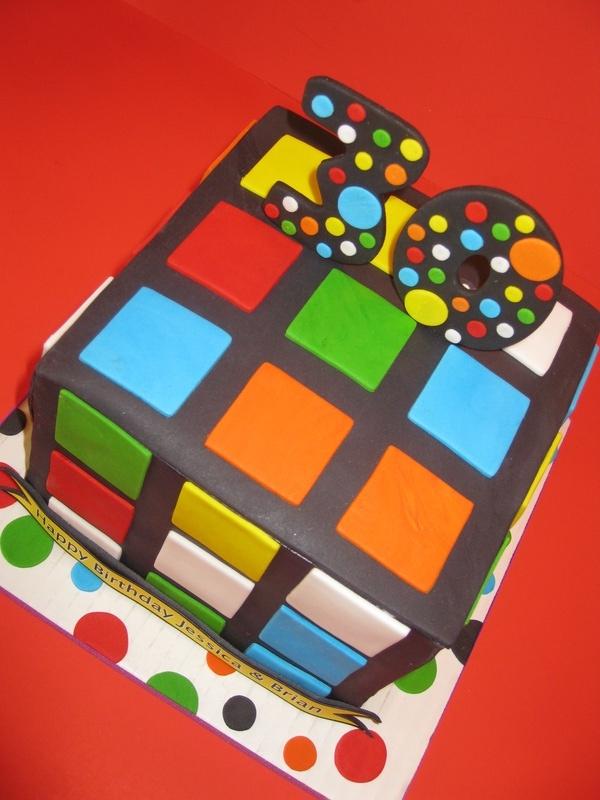 Jessica & Brian's Rubix Cube Cake
