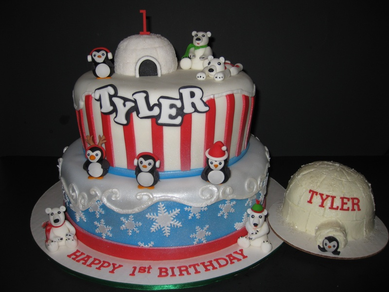 Tyler's Winter 'ONE'derland Cake & Smash Cake