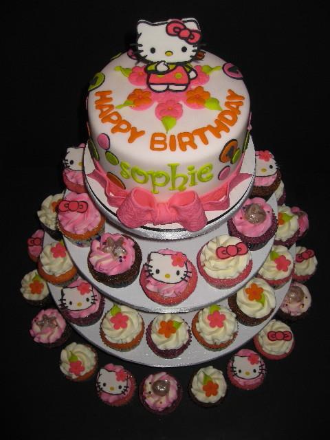 Sophies Hello Kitty Birthday Cake Cupcake