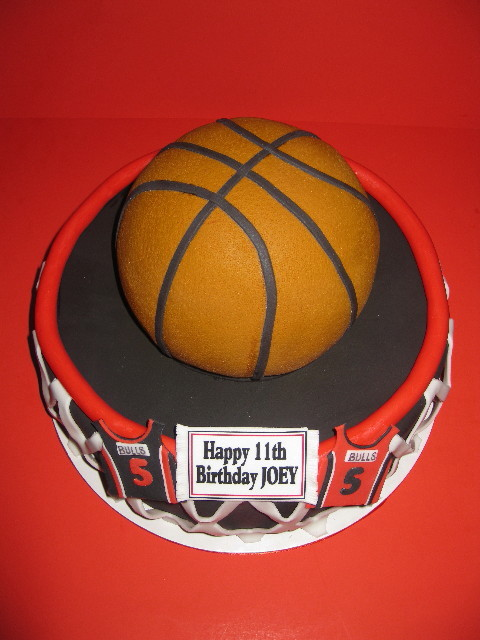Joey's Basketball Birthday Cake