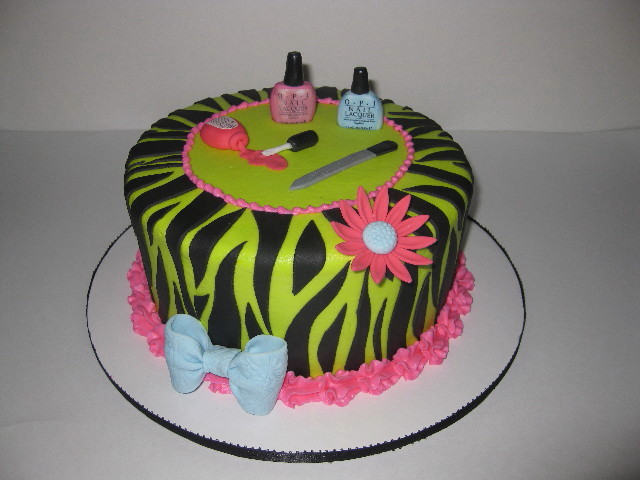 Nail Tech Birthday Cake